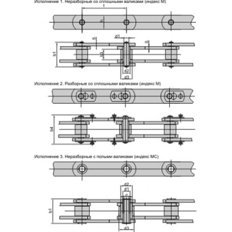 Пластинчатые ГОСТ 588-81 роликовые (Тип 2)